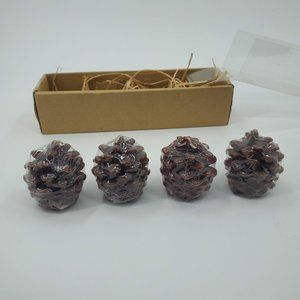 """Pottery Barn Pinecone 2"""" Mini Candles, Set of 4"""